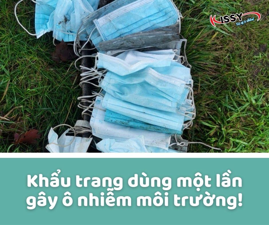 Khẩu trang dùng một lần gây hại cho môi trường